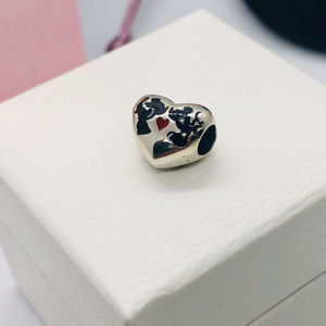 PANDORA Disney Mickey & Minnie Kissing Heart Charm